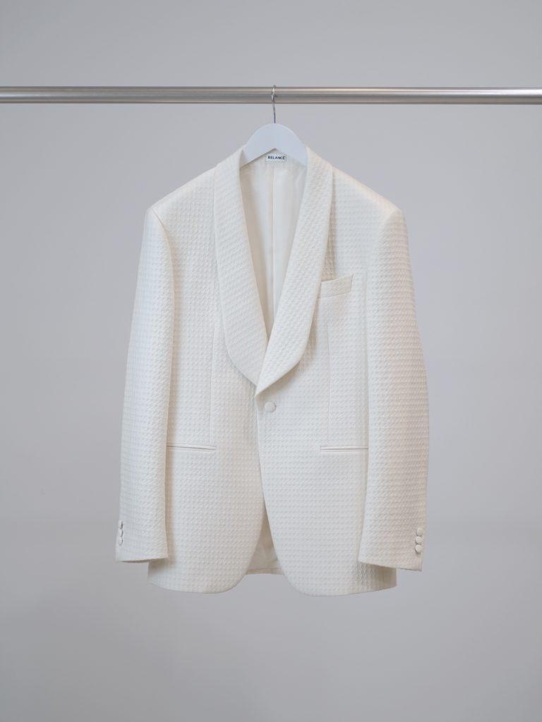 White Tuxedo Tailored Jacket
