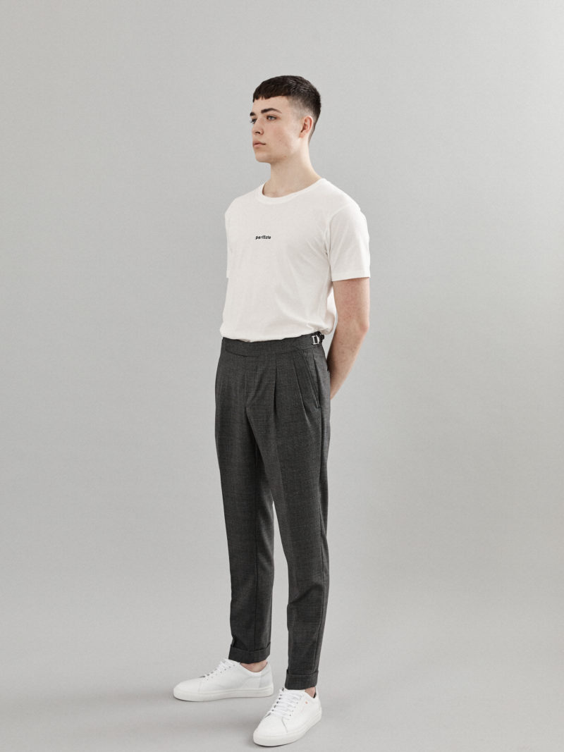 Tailored Wool Charcoal Trousers