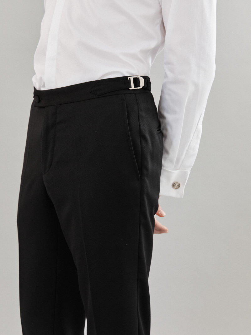 Black Wool Tailored Trouser