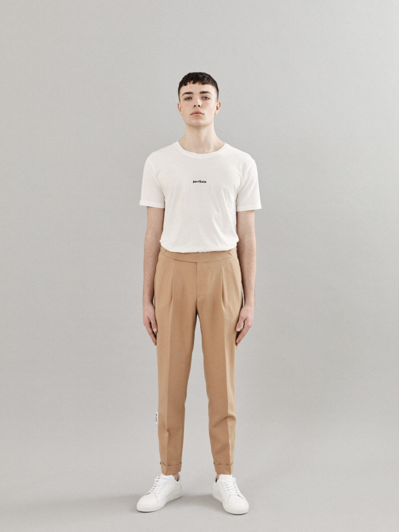 Tailored Wool Camel Trousers