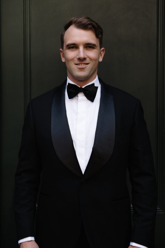 Groom Wedding Suit Pose